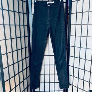 American Apparel black high waisted jeans sz M
